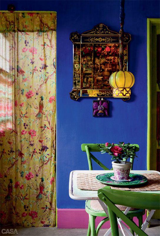Uma casa colorida cheia de estampas e felicidade - Casa