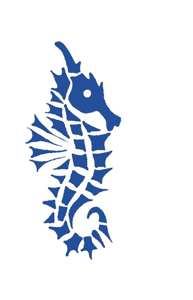 Hippocampe fragmenté en 33 morceaux, logo SeaHorse-Collection