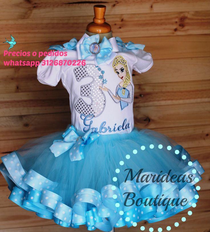 Conjunto tutu encintado Elsa de Frozen :: Marideas