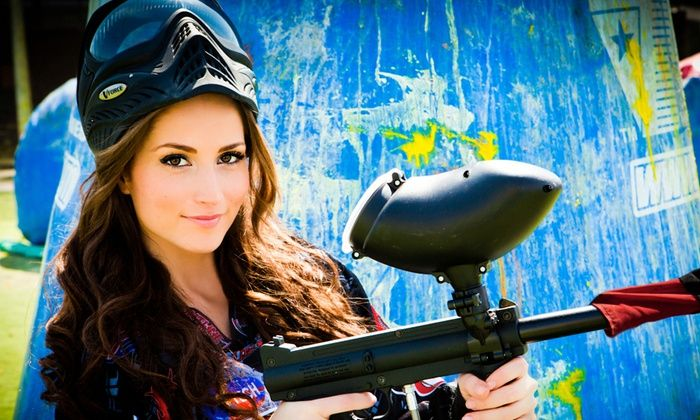 Paintball Tickets - Multiple Locations: All-Day Paintball Package with Equipment Rental for 4, 8, or 12 from Paintball Tickets (Up to 88% Off)