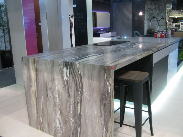 The Space Module: benchtop in Formica 180fx Dolce Vita. Our wet bar Formica