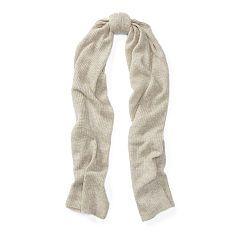 Rib-Knit Cashmere Scarf - Polo Ralph Lauren Sale - RalphLauren.com