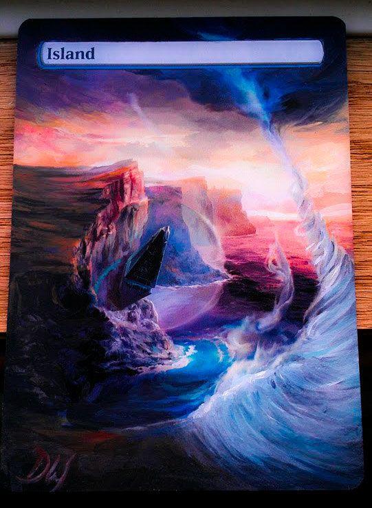 MTG altered art Zendikar Island from Magic the by WallqvistStudio