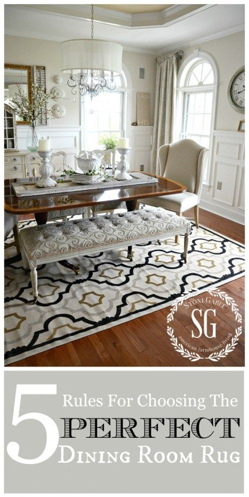 192 Best Dining Room Images On Pinterest  Dinner Parties Dinner Pleasing Dining Room Rugs Inspiration