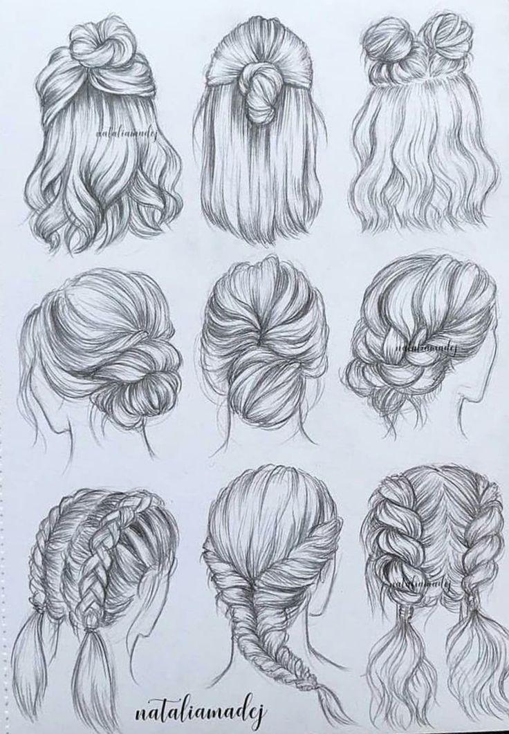 Kati Ronjablock04 On Pinterest Haare Zeichnen Zeichnungen Von Haaren Haarzeichnung