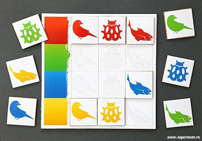 Развивающие игры с детьми лото цвета free printable, color bingo