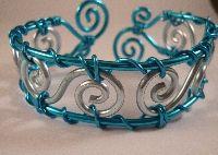 Armband 036 Handgemaakte armband van aluminiumdraad, hypo - allergeen
