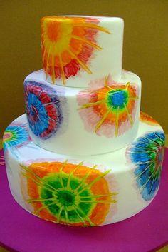 Tie Dye Cake   Anna Laura   Pinterest   Tinte, Tortas Tie-dye y ...