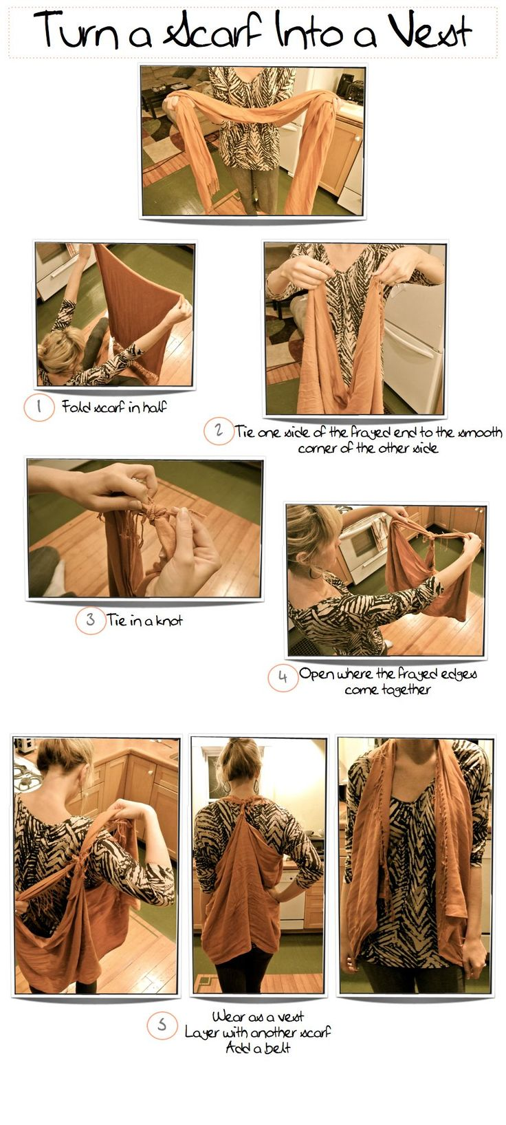 Turn Your Scarf Into a best. MIND BLOWN!!