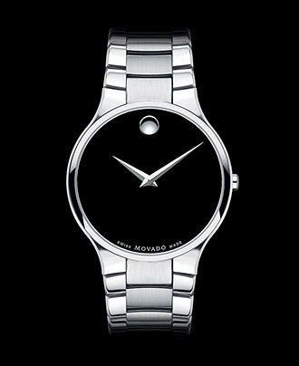 Movado Watch, Men's Swiss Serio Stainless Steel Bracelet 38mm 0606382 - Movado - Jewelry & Watches - Macy's - white mens watches, mens tag watches, white mens watches