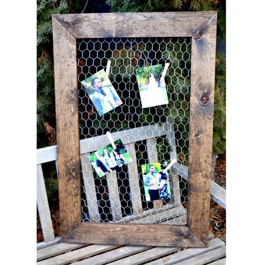 Rustic Chicken Wire Picture Frame - Darby Smart                                                                                                                                                      More