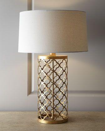 Regina-Andrew Design Quatrefoil Drum Lamp - Horchow