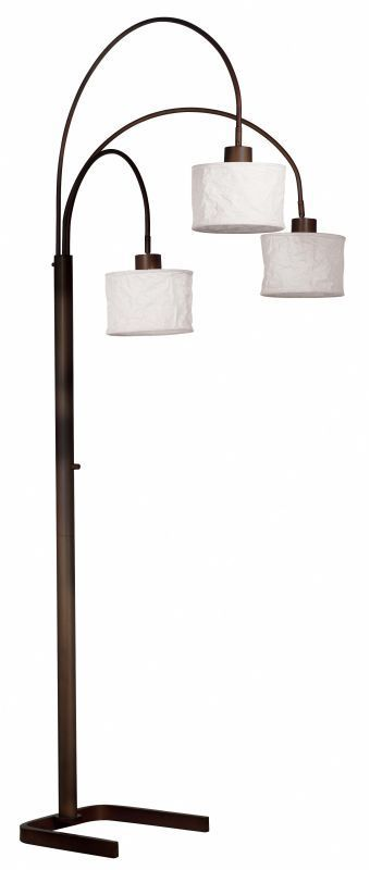 Kenroy Home 30674 Crush 3 Light Arc Floor Lamp Oil Rubbed Bronze Lamps Floor Lamps Arc Lamps