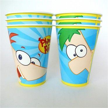 Vasos Phineas y Ferb - Artículos de Fiesta