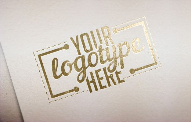 Golden Logotype Template White Background Design Mockup Free Free Packaging Mockup Mockup Template Free