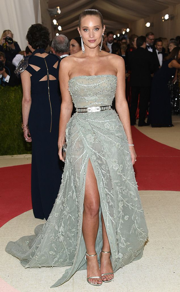 Hannah Davis from Met Gala 2016: Red Carpet Arrivals  In Zuhair Murad Couture