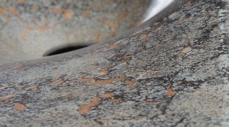 Design washbasin. Handcrafted of engineered concrete Danzare.PIETRA. Surface. Details.