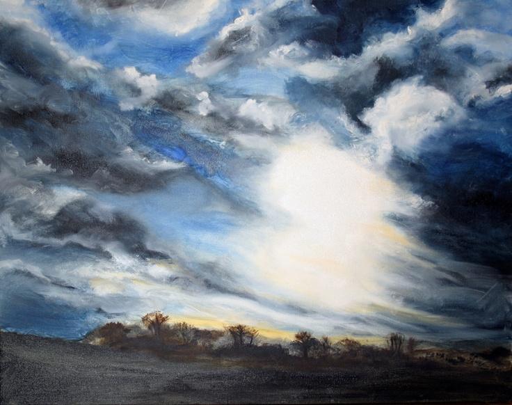 Suffolk Dawn - Oil by Liz James