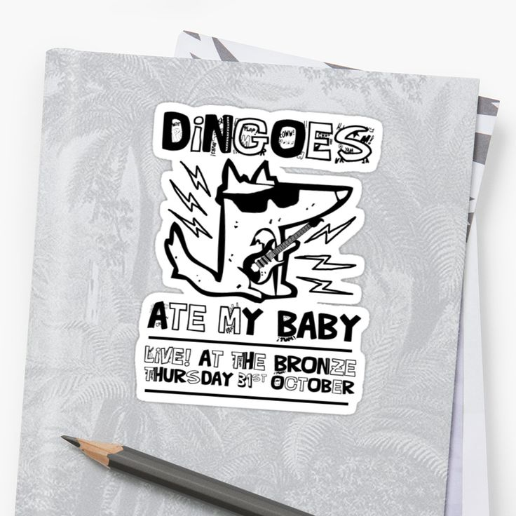 Dingoes ate my baby buffy the vampire slayer band t shirt sticker by j m
