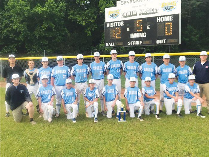 Erwin Wins Middle School Baseball Tourney Salisbury Post School Baseball Middle School School