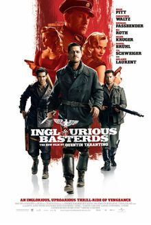 Inglourious Basterds (2009): In Nazi-occupied France during World War II, a plan to assassinate Nazi leaders by a group of Jewish U.S. soldiers coincides with a theatre owner's vengeful plans for the same.  -Starring: Brad Pitt, Christoph Waltz, Michael Fassbender, Eli Roth, Diane Kruger, Til Schweiger, Mélanie Laurent
