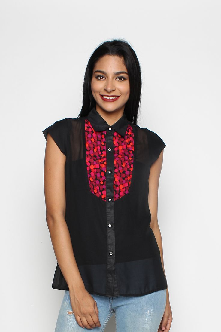 Nicky Blouse Red Dots   Rp 149.000