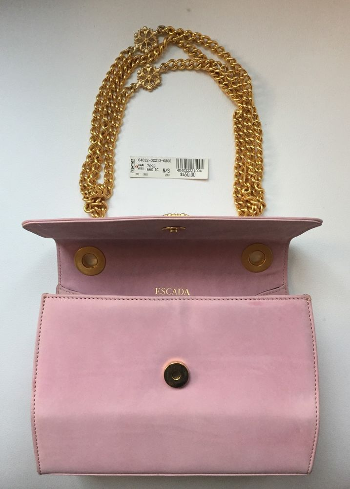 Authentic Escada Pink Leather Bag Handbag Made In Italy  fashion  clothing   shoes  accessories  womensbagshandbags  ad (ebay link) e6241b0a0e35f