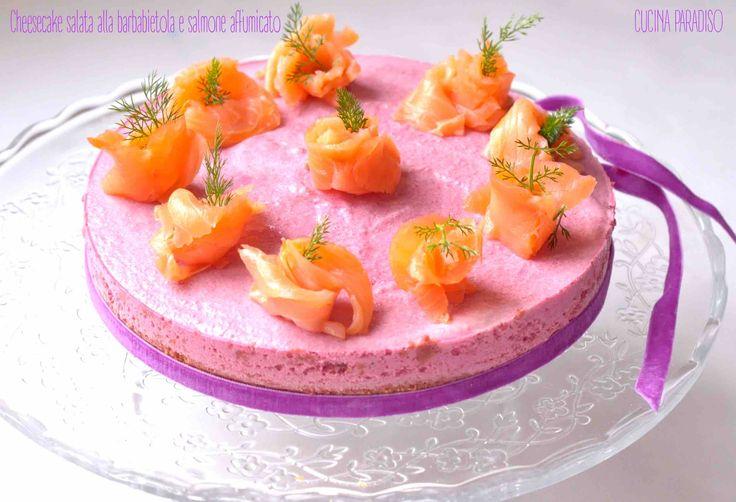 Cheesecake salata alla barbabietola e salmone affumicato- BEET CHEESECAKE WITH SMOKED SALMON