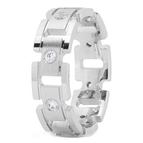 Platinum 7 mm Men's Rolex Diamond Wedding Ring