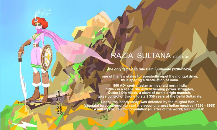 #Razia #Sultana #Sultan #Delhi #Sultanate #woman #ruler #Incredible #india #history #illustration #warrior #gaming #turkic #uyghur #urdu #mongol