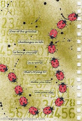 Journal page. Bee yourself.