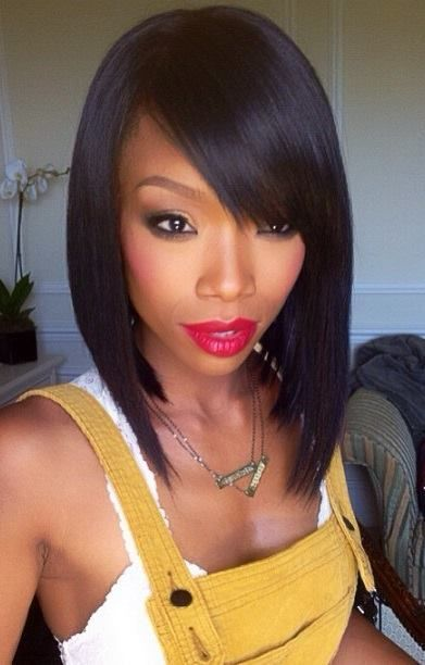 weaves hairstyles | medium length bob hairstyle  http://www.hairstylo.com/2015/07/weave-hairstyles.html