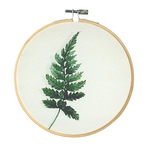 Olislagers Fern Leaf Borduurring   Loods 5   Kunst   Jouw stijl in huis meubels & woonaccessoires