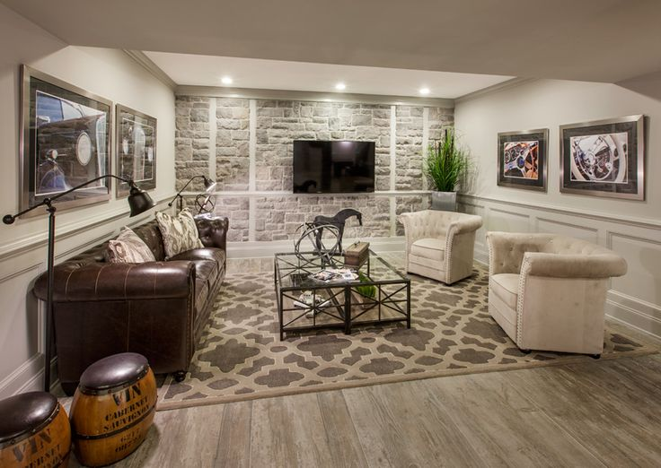 Great Basement Space Love The Brick Accent Wall