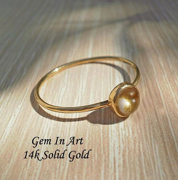 Solid Gold Dainty Ring14K Solid Gold Stacking Ring14K Gold