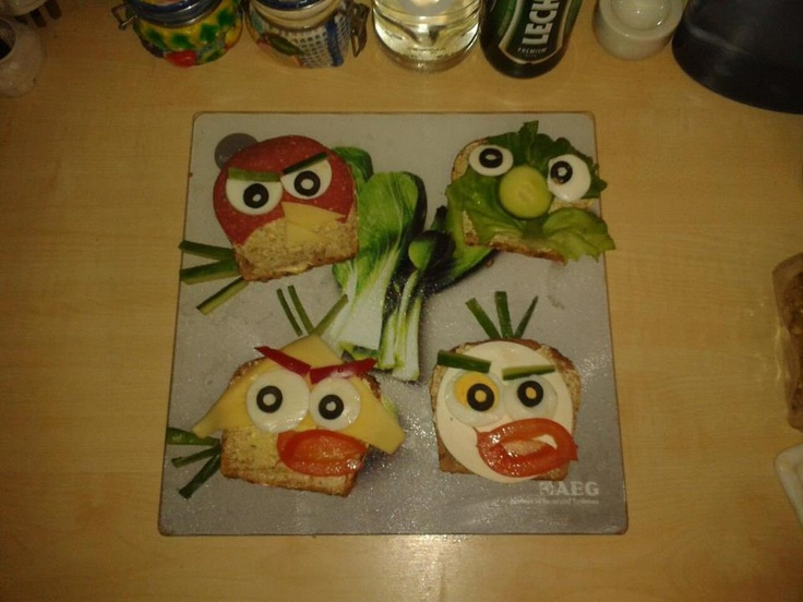 Angry Birds Angry Sandwiches Angry Kanapki