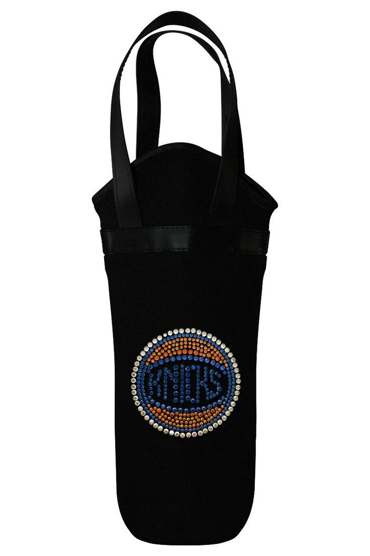 New York Knicks Rhinestone Logo Wine Tote