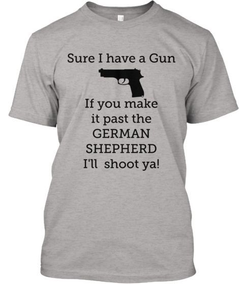 German Shepherds and guns <3