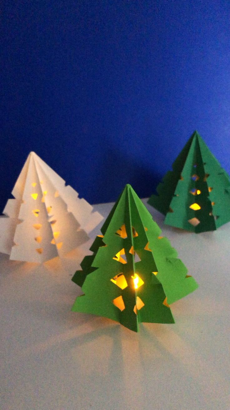 3d Paper Christmas Tree Luminary Christmas Paper Crafts Christmas Tree Crafts Christmas Arts And Crafts