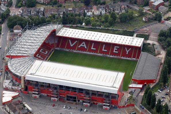 An aerial view of Valley Parade home of Charlton Athletic Football Club on July 26, 2011 in London, England.