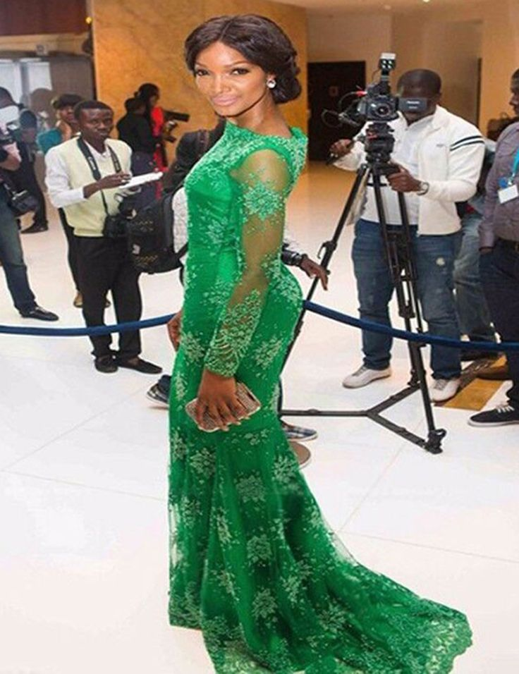 Mode Smaragd Long Green Abendgesellschaft Kleider Mermaid Bodenlangen Oansatz Sweep Zug Sheer Spitze Vestido De Festa //Price: $US $109.45 & FREE Shipping //     #dazzupde