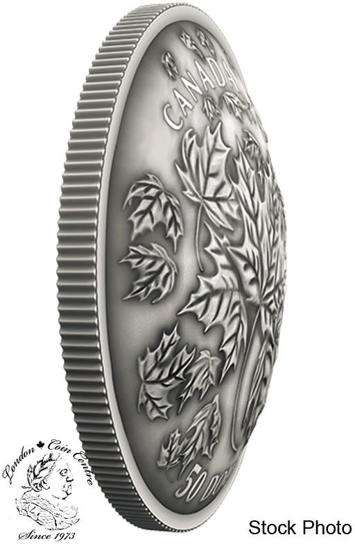 London Coin Centre Inc. - Canada: 2018 Maple Leaves in Motion 5 oz. Convex Pure Silver Coin, $579.95 (http://www.londoncoincentreinc.com/canada-2018-maple-leaves-in-motion-5-oz-convex-pure-silver-coin/)