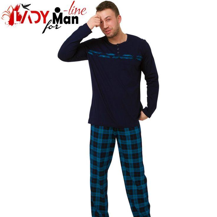 Poze Pijama Barbati, Bumbac 100%, 'Titan Of The Oceans', M-M Nightwear
