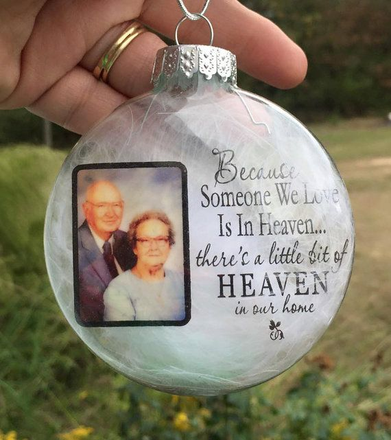 Personalized Christmas ornament are designed to be in loving memory of ornaments. A way to carry and keep our loved ones close to us this holiday season. __________________________________________________________________ These ornaments are a very sentimental gift to give this season, they can also be used as: -Remembrance ornaments -In memory of ornaments -Memory ornaments -Memorial ornaments -Personalized Christmas ornaments -Photo ornaments -Memorial Christmas ornaments -Keepsake…