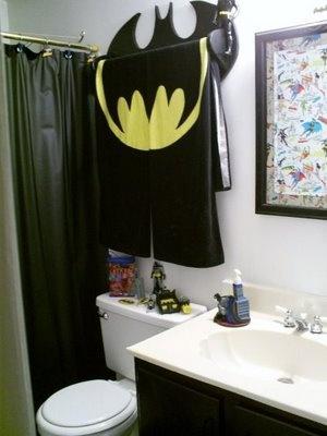 32 best home bathroom ideas images on pinterest for Batman bathroom ideas