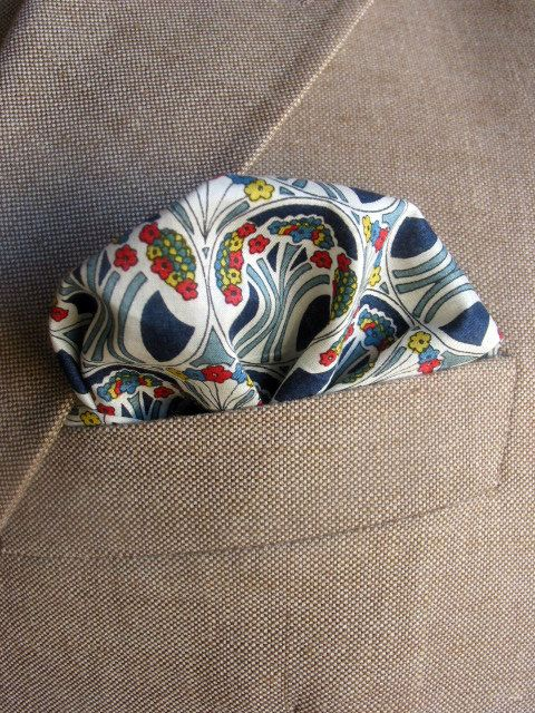 Mens Pocket Square A View to a Kill Blue red by speaklouder