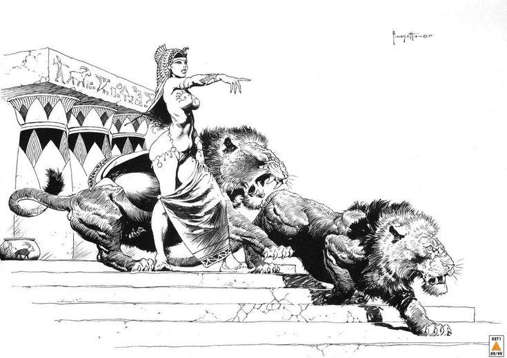Американский иллюстратор фантастики Фрэнк Фразетта (1928-2010). Часть 1…