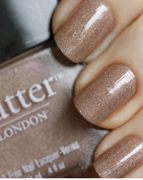 """#fingerpaint LONDON's """"All Hail the Queen"""": London Nails, Nails Colors, Fall Nails, Butter London, Champagne Nails, The Queen, Glitter Nails, Sparkle Nails, Nails Polish"""