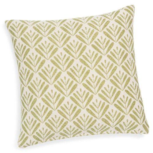 Fodera di cuscino verde in cotone 40 x 40 cm BENJARAN