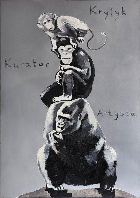The Krasnals: Piramida zwierząt / na podstawie pracy Katarzyny Kozyry; 2008/2011, canvas print, 65 x 92 cm